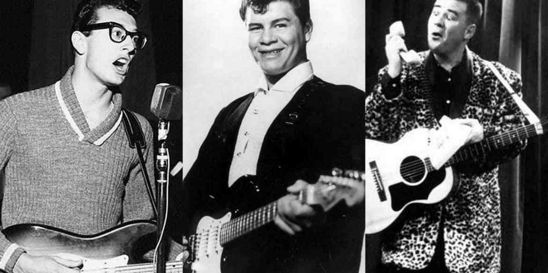 1959-Rock 'n' roll star Buddy Holly & three others killed in air crash