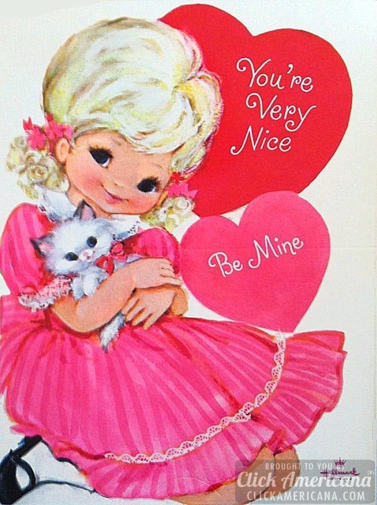 Hallmark Valentine cards: You're very nice - Be mine
