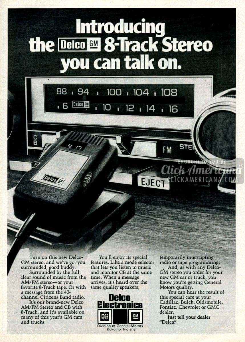 Delco Car Stereos With Cb Radio  1977