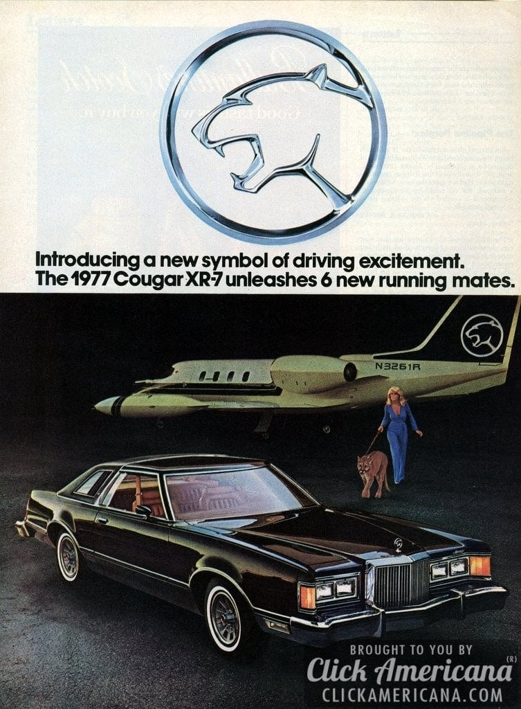 Ford Introduces The Mercury Cougar Xr 7 1976 Click Americana