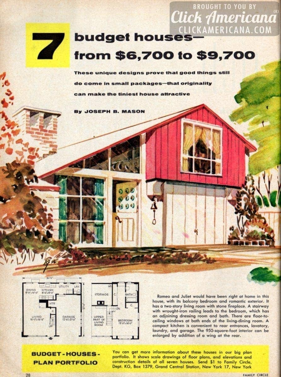 7 budget small house designs (1956)