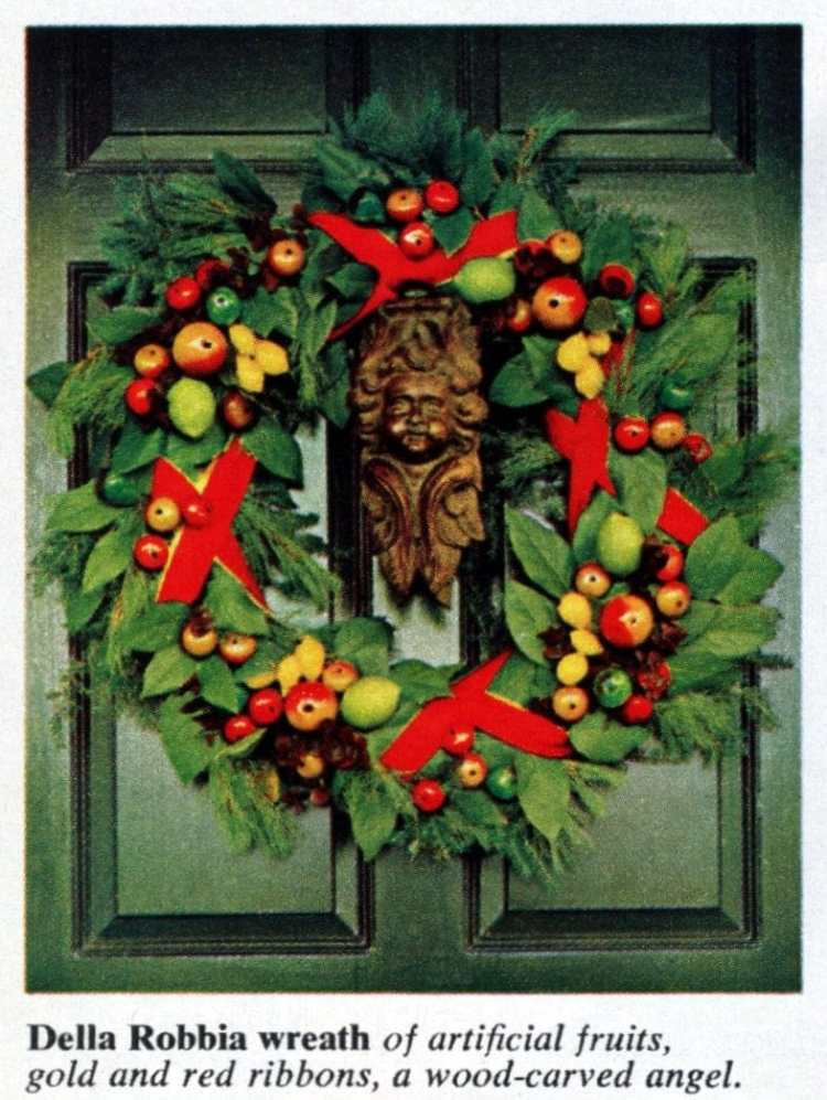 6 beautiful ways to make a welcoming Christmas wreath for your front door - Vintage crafts (1)