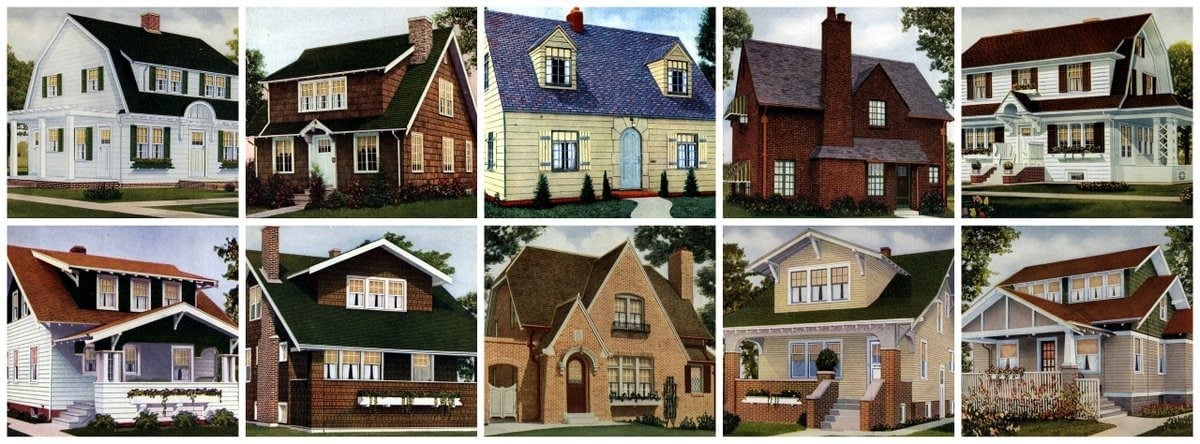 62 Beautiful Vintage Home Designs U0026 Floor Plans From The 1920s   Click  Americana