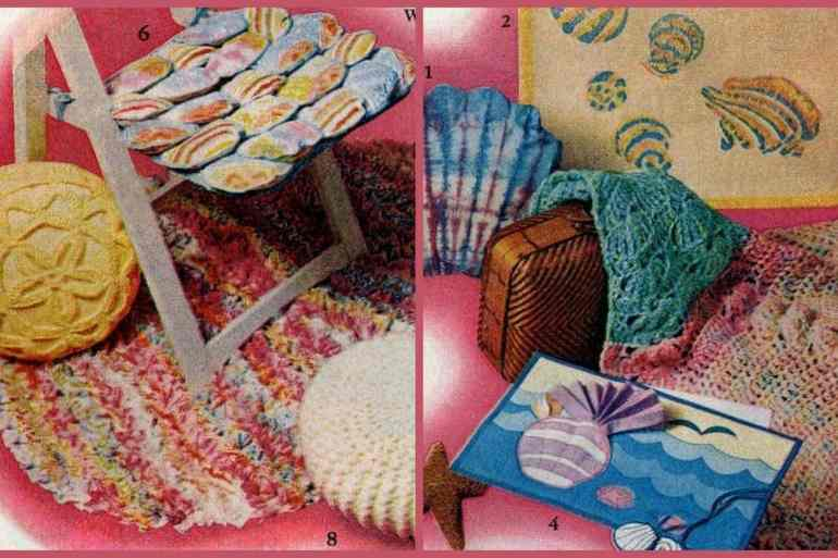 8 cute & cheap shell design vintage crafts (1974)