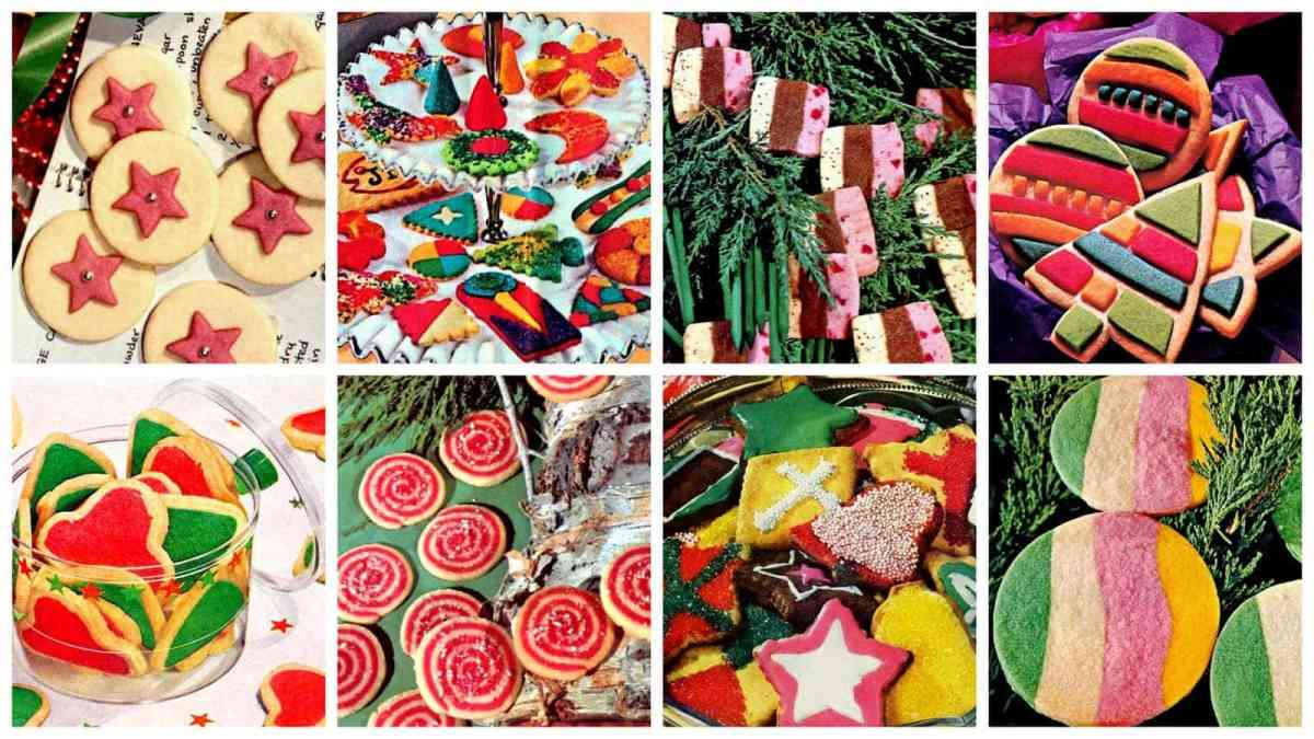 A sweet collection of cute & very colorful classic Christmas cookies