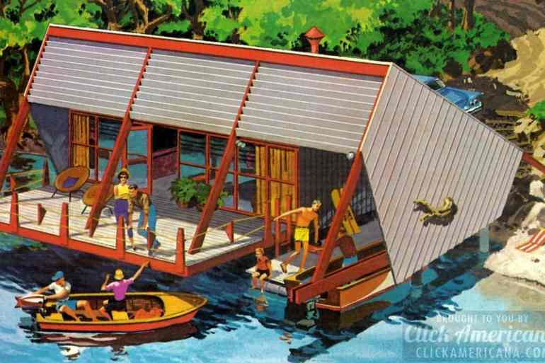 A vacation home on the water The Homarina beach cabin (1960)