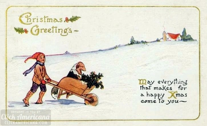 Antique and vintage Christmas postcards from the early 1900s at Click Americana (3)