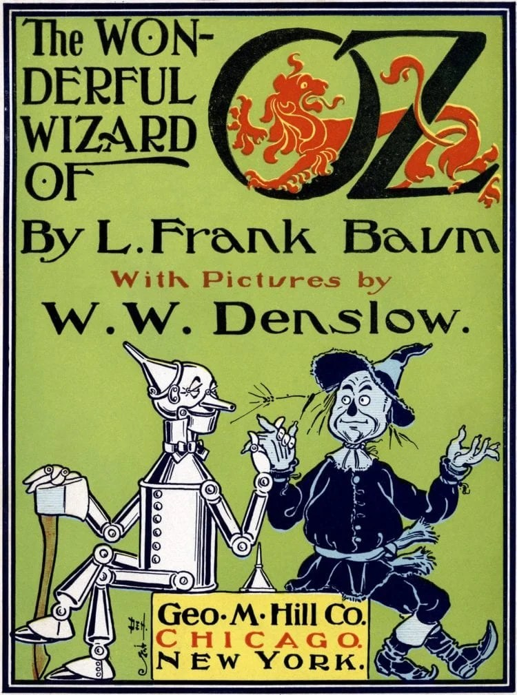 Antique Wonderful Wizard of Oz book review - L Frank Baum and Denslow pictures