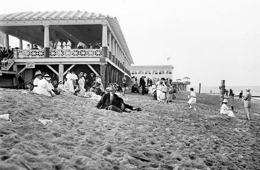Asbury Park - Beach - New Jersey c1910