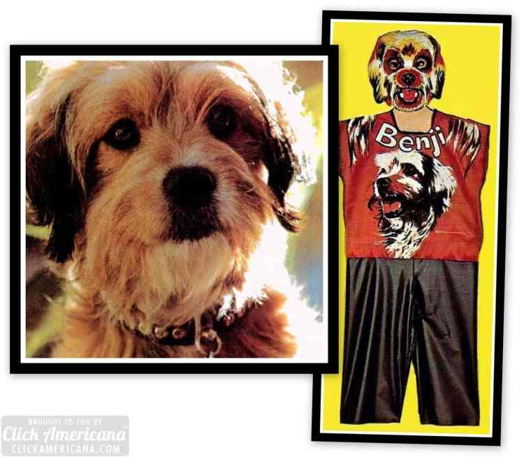 Awful Vintage 70s Halloween costumes and masks - Benji the dog