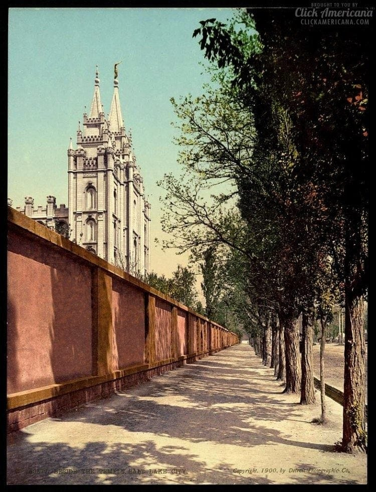 Beside the Temple, Salt Lake City in 1900