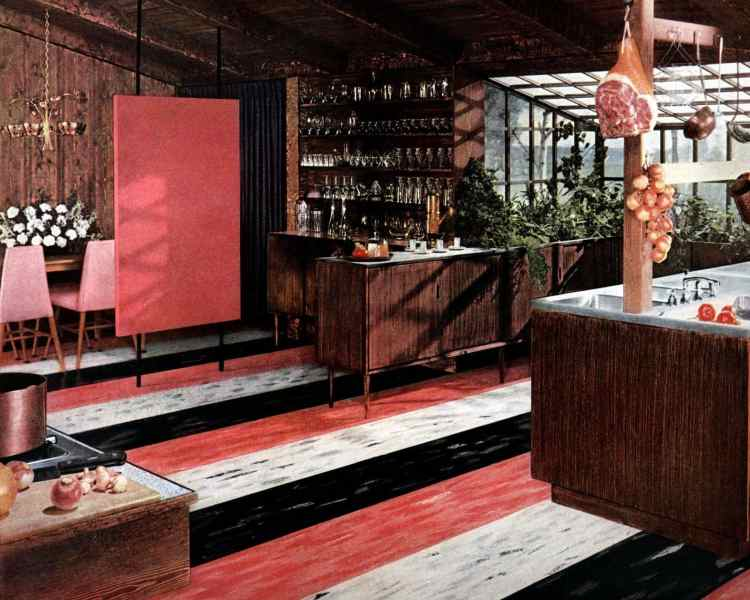 Bold patterned retro floors from the fifties (2)