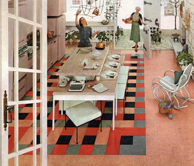 Bold patterned retro floors from the fifties (4)