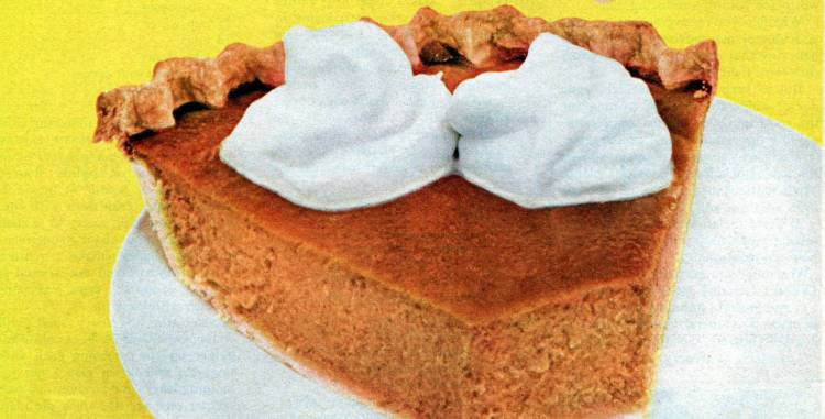 Carnation's famous pumpkin pie: The traditional Thanksgiving dessert (1959)