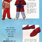 Vintage pajamas and slippers for little boys