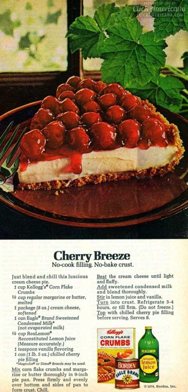 Cherry Breeze Cream Cheese Pie 1974