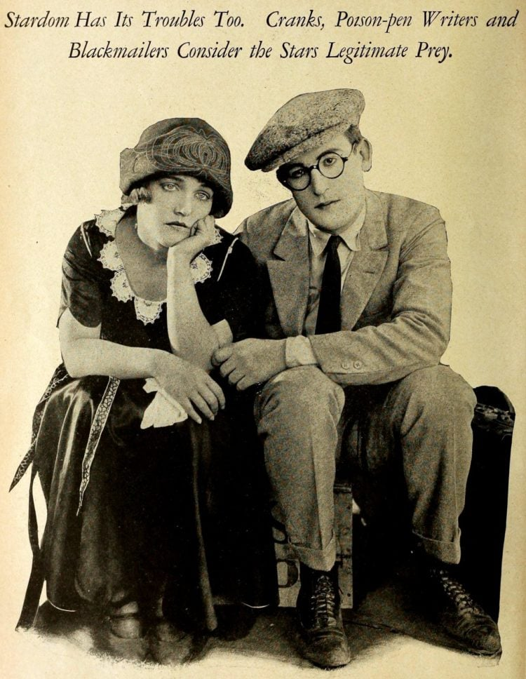 Classic Hollywood actors - silent movies c1922