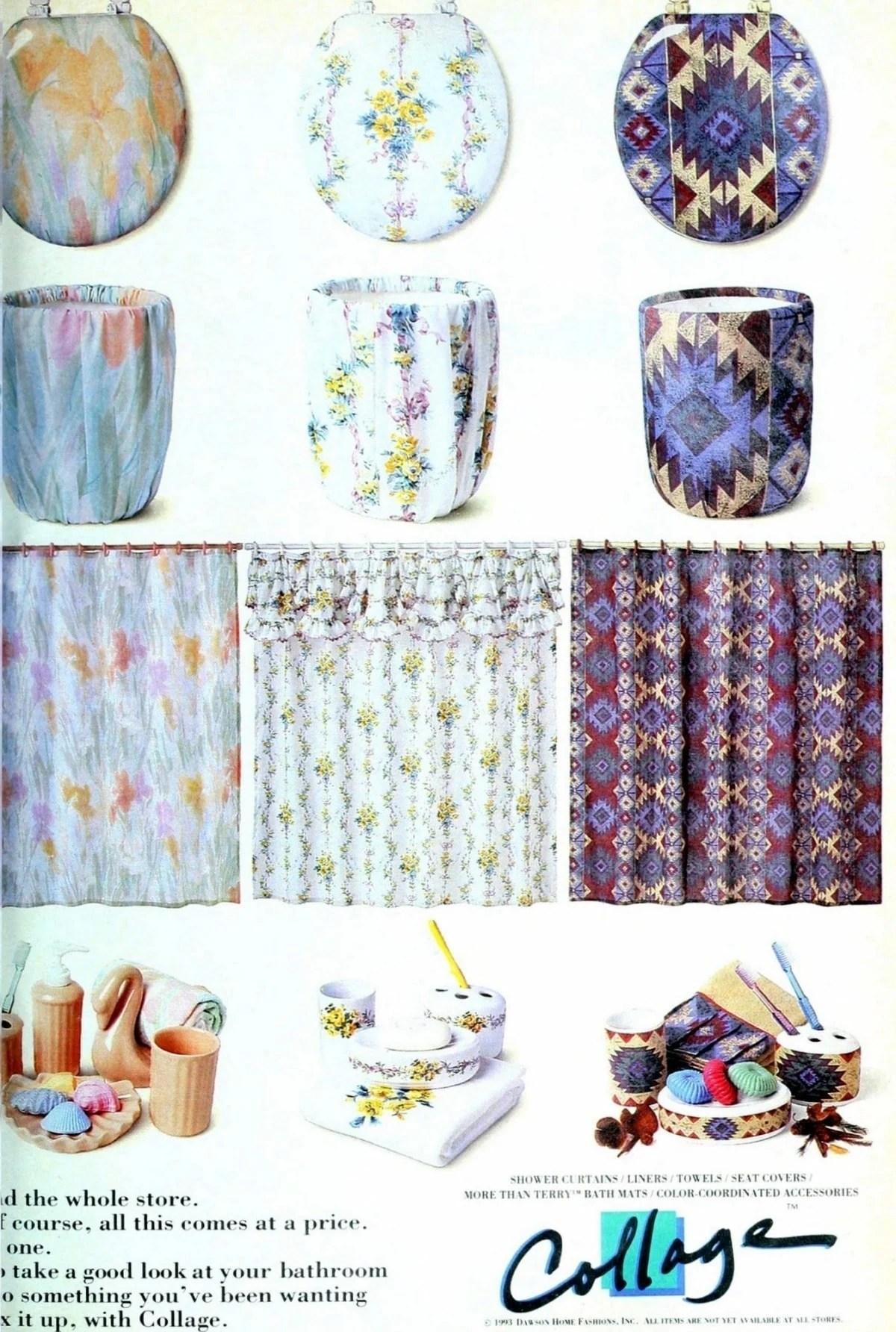 Cute, colorful bathroom decor & accessories (1993) - Click Americana