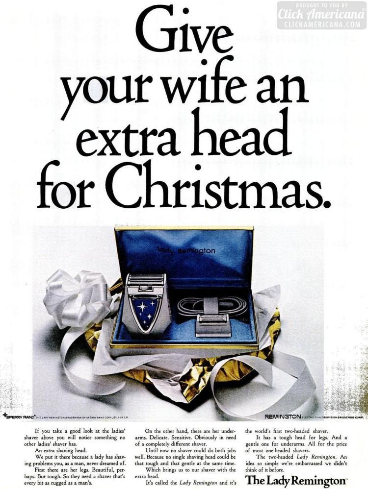 Dec 12, 1969 Give your wife an extra head for Christmas