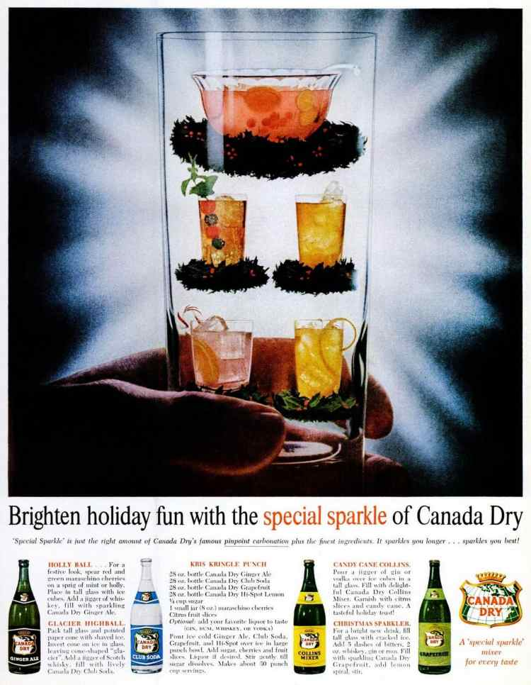 Dec 1961 Canada Dry Holiday punch - Christmas (1)