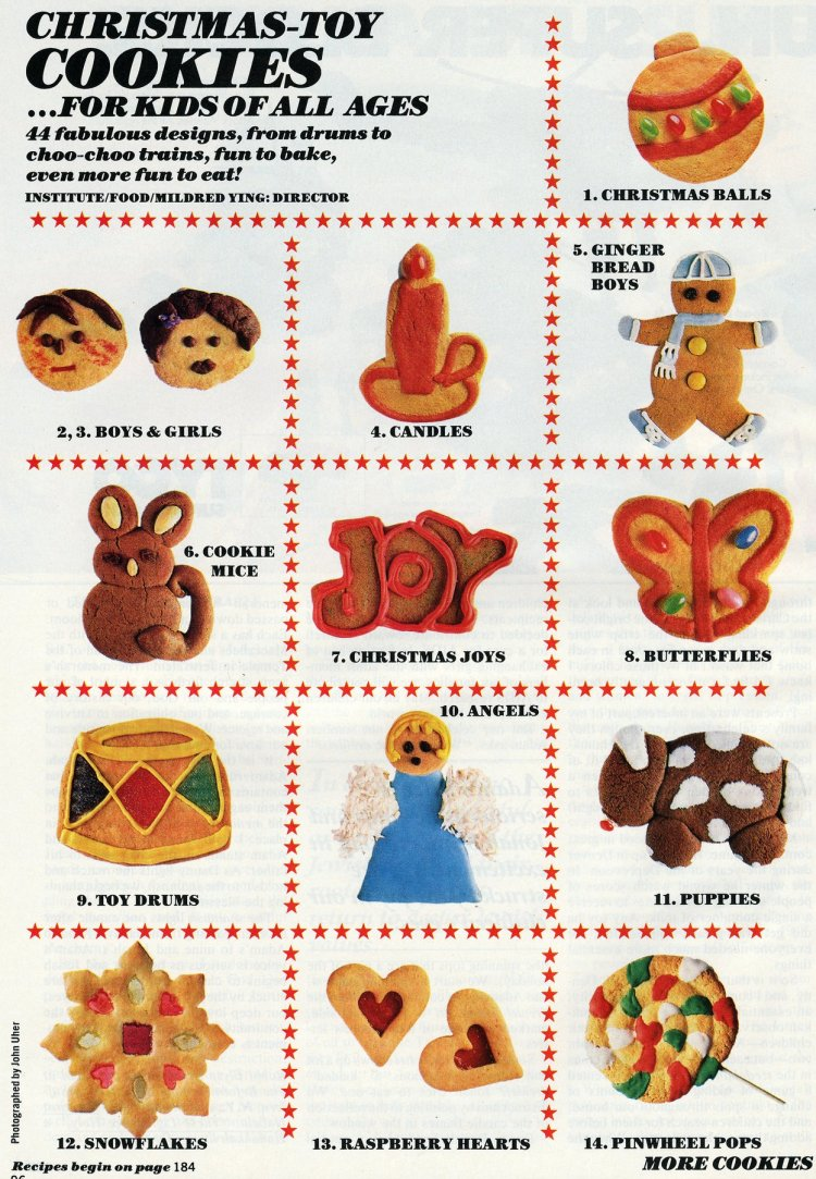 Decorate Christmas cookies like toys - vintage ideas from the 80s (2)