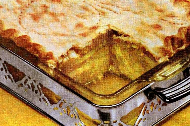 Deep-dish honey apple pie recipe (1951)