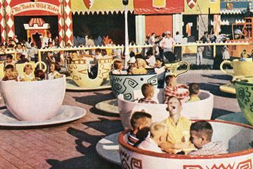 Disneyland opens - Walt Disney's magical new theme park in Southern California (1955)