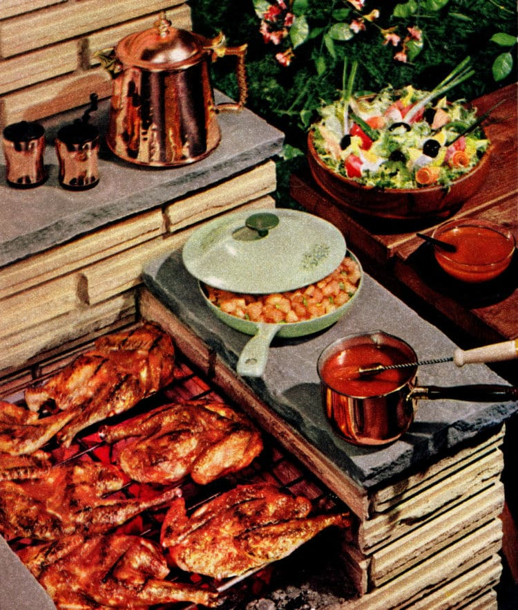 Dress up BBQ chicken with some fresh, savory jiffy barbecue sauce