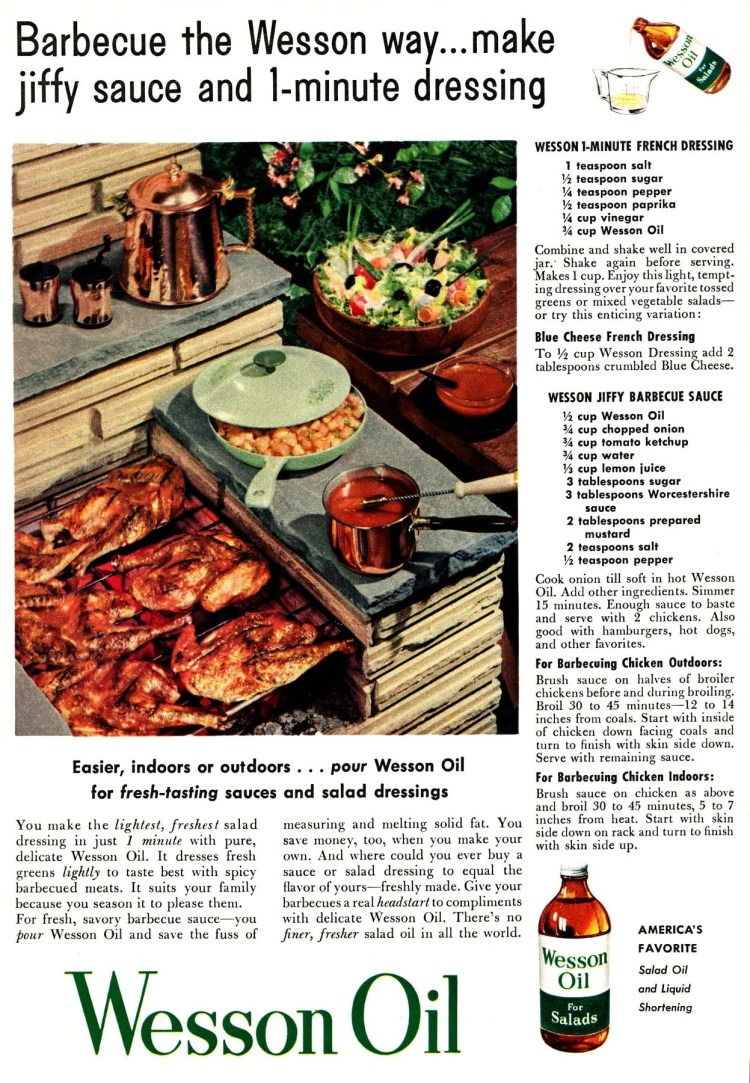 Dress up your BBQ chicken with fresh, savory jiffy barbecue sauce