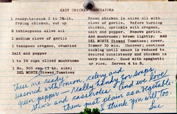 Easy Chicken Cacciatora recipe card from 1962.jpg