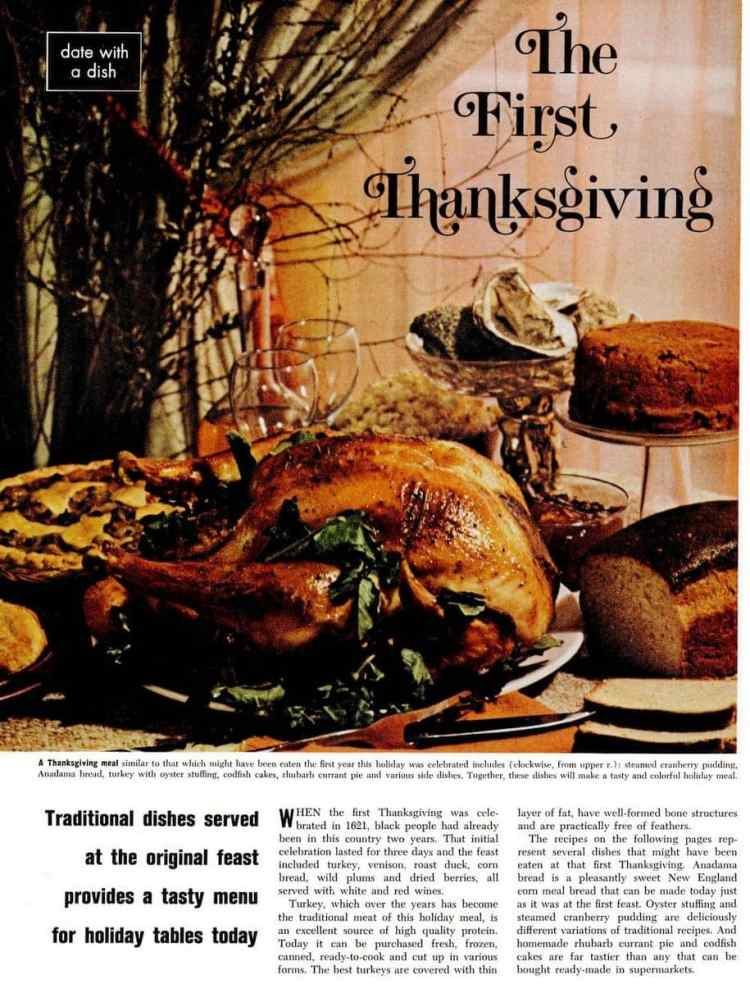 The First Thanksgiving: Recipes for a tasty traditional Thanksgiving dinner (1975)