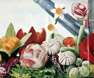 Fancy fruit and veg Do-it-yourself garnishes (1965)