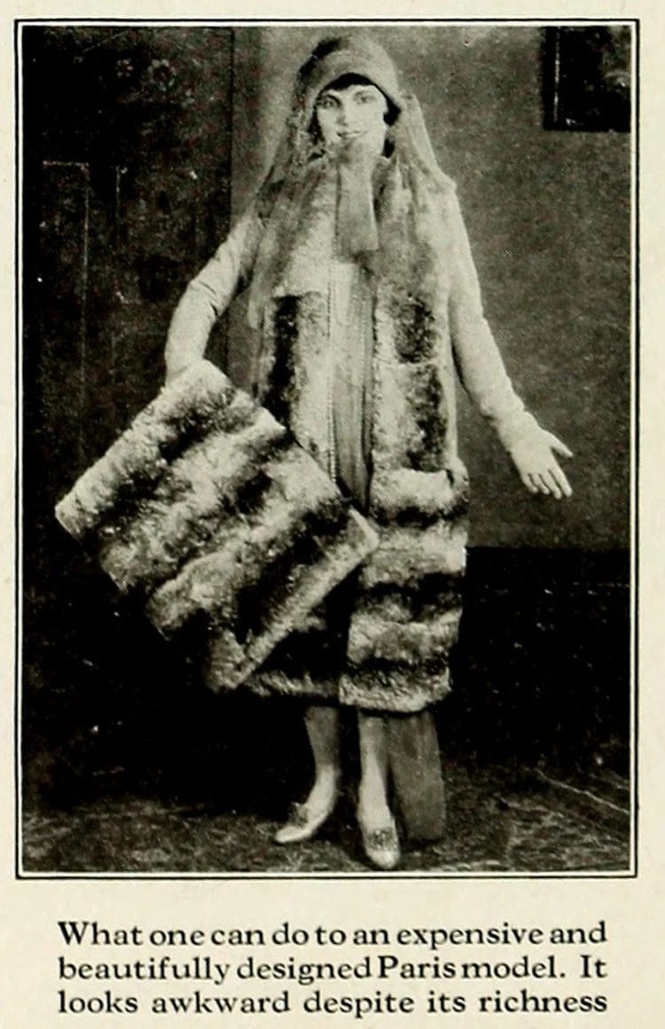 Fashion lessons from the '20s How to spoil the effect of beautiful clothes (4)