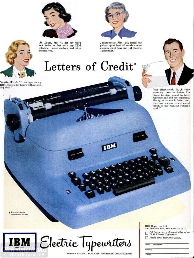 Feb 19, 1951 IBM typewriter