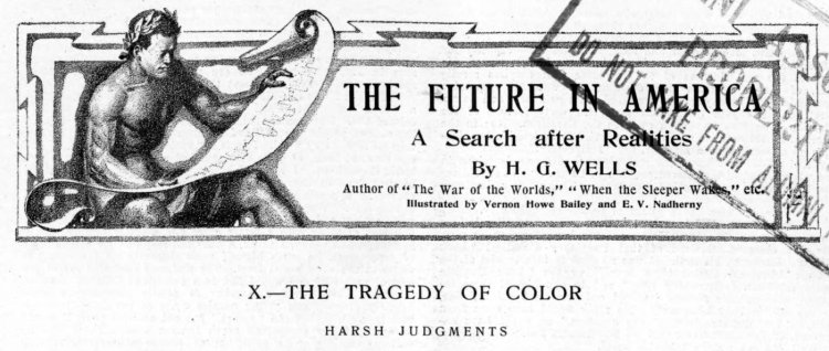 H G Wells the Tragedy of Color - Harper's Weekly 1906