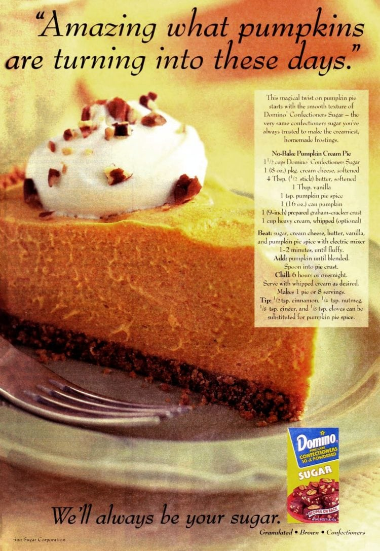 Cheesecake-style no-bake pumpkin cream pie