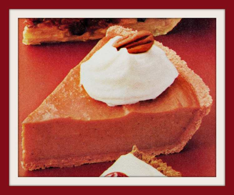 Homemade holiday pies 80s - Vintage No-Bake Pumpkin Pie recipe