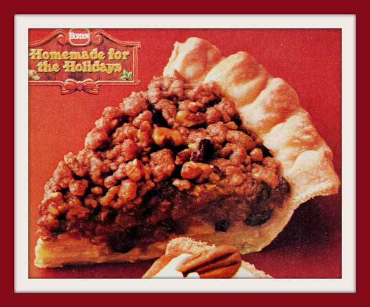 Homemade holiday pies 80s - vintage Apple Streusel Mince Pie recipe