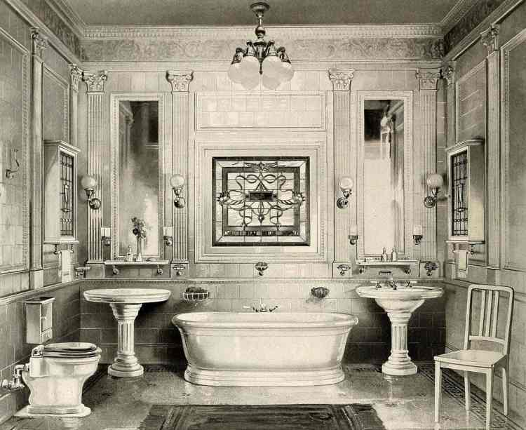 How to keep your bathroom clean and white (1905)