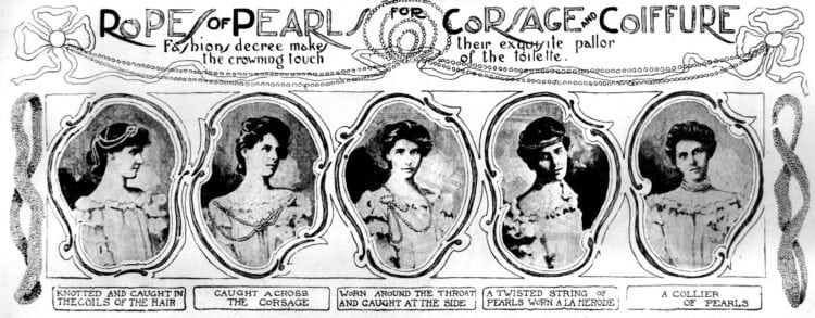 How to use pearls to accessorize outfits and hairstyles 1901 (1)