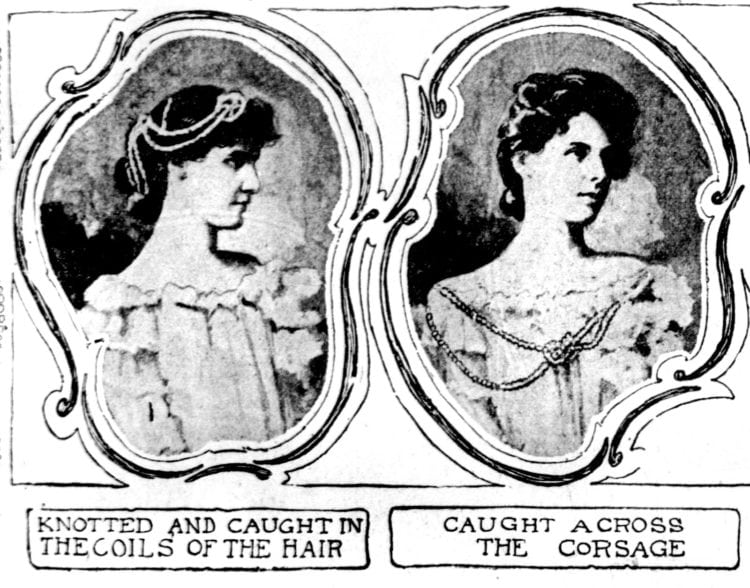 How to use pearls to accessorize outfits and hairstyles 1901 (2)