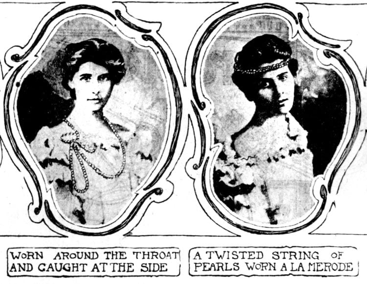 How to use pearls to accessorize outfits and hairstyles 1901 (3)