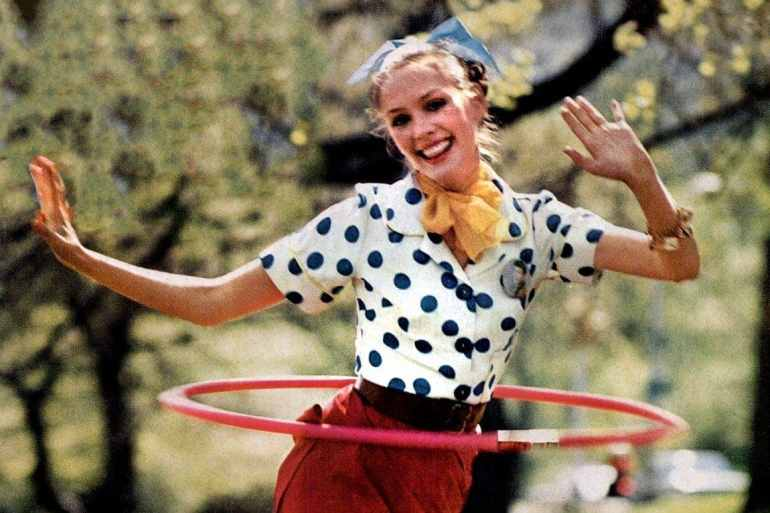 Hula Hoop revival 1972 woman with toy