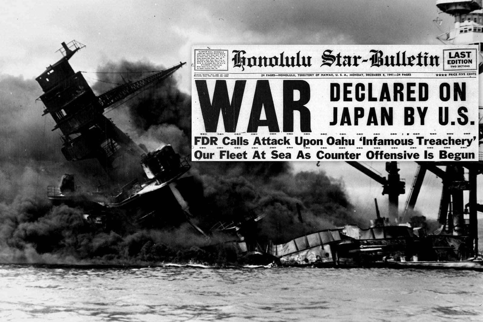 Japan Declares War Bying Pearl Harbor In Hawaii And