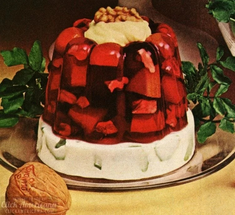 Jello molds, salads and other 60s holiday side dish recipes