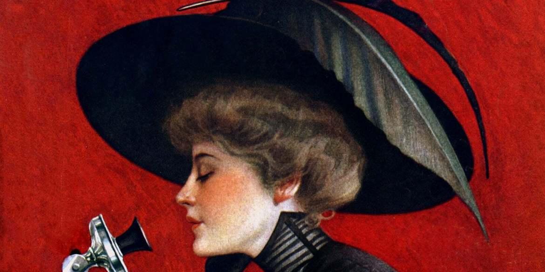 LHJ women fashion beauty 1912 telephone cover