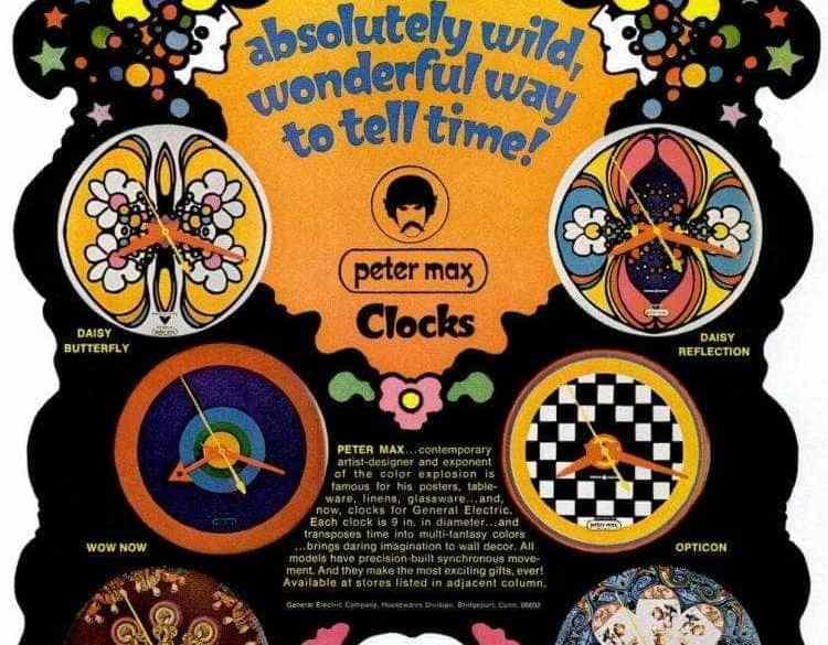 peter max clocks