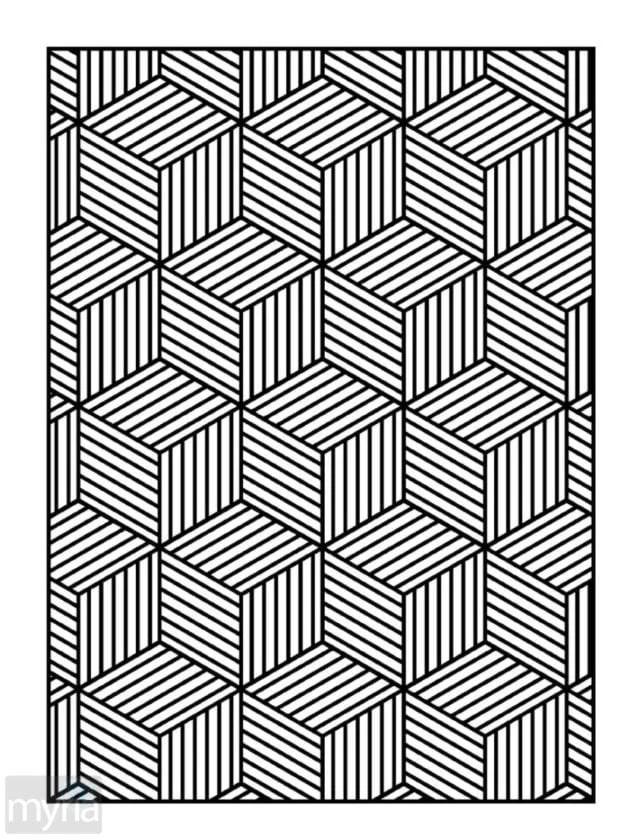 Large Print Adult Coloring Book 4 Big Beautiful Simple Patterns