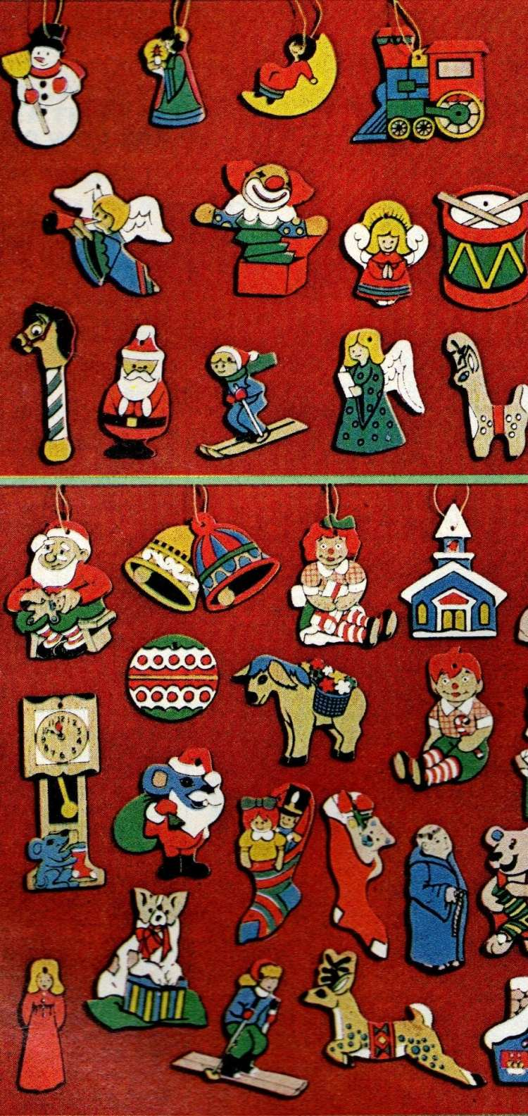 Little Christmas ornament sets from 1974 (3)