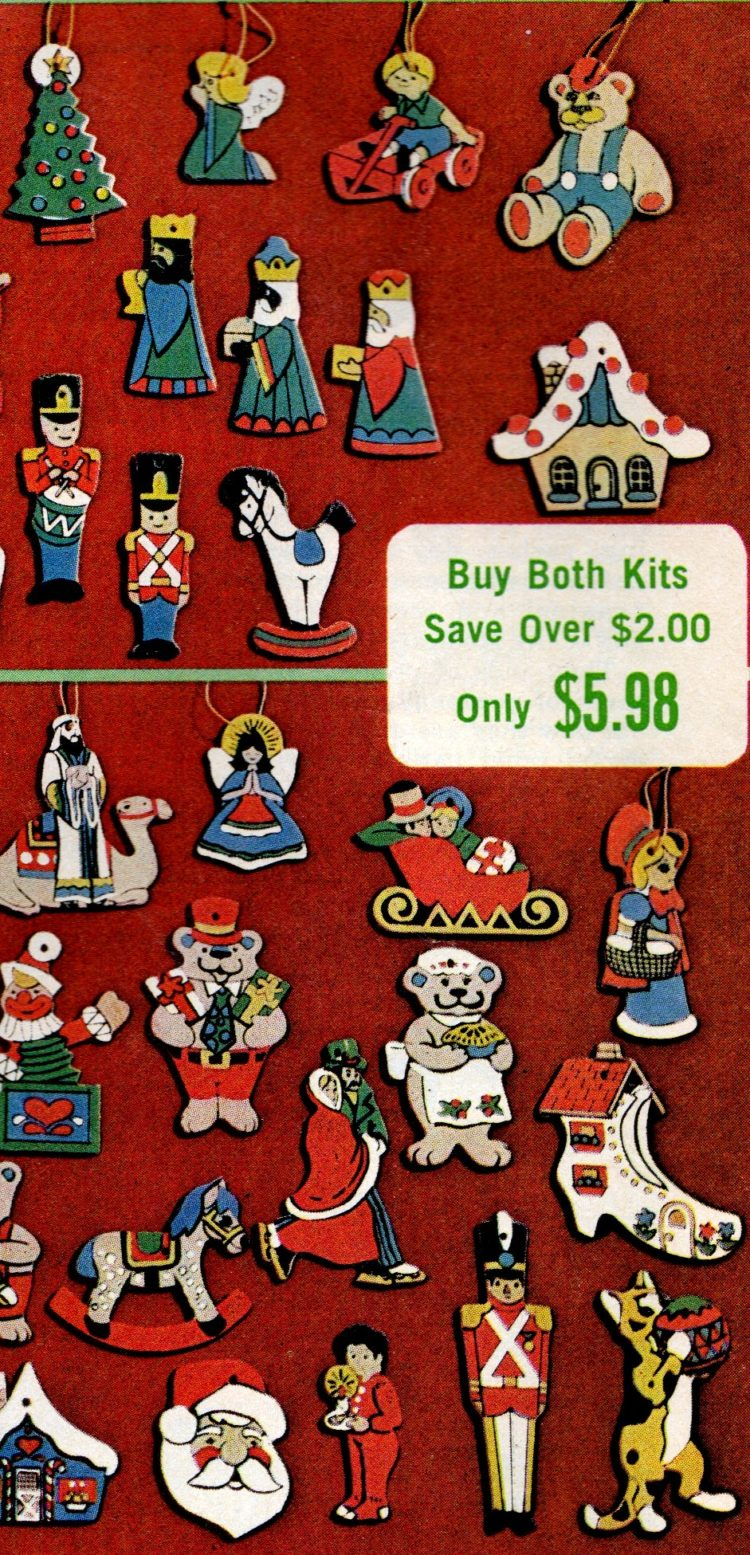 Little Christmas ornament sets from 1974 (4)
